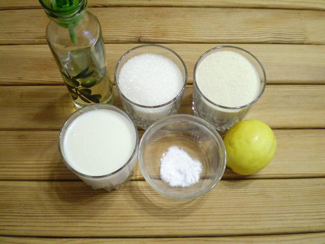 Рецепт Лимонный манник