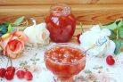 Варенье из розовой черешни с ванилью