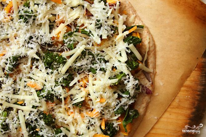 Пицца со сквошем и капустой кале - фото шаг 2