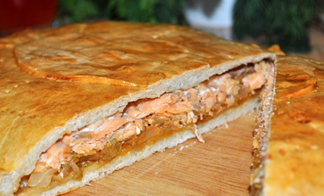 Пирог с капустой и рыбой - фото шаг 6