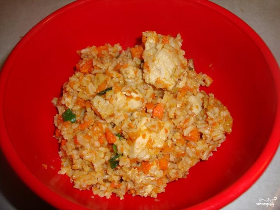 Курица с рисом в мультиварке - фото шаг 8