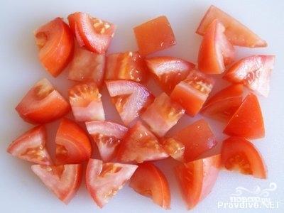 Греческий салат с базиликом - фото шаг 3