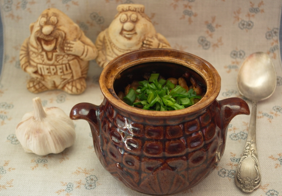 чанахи с фасолью рецепт в горшочках с фото