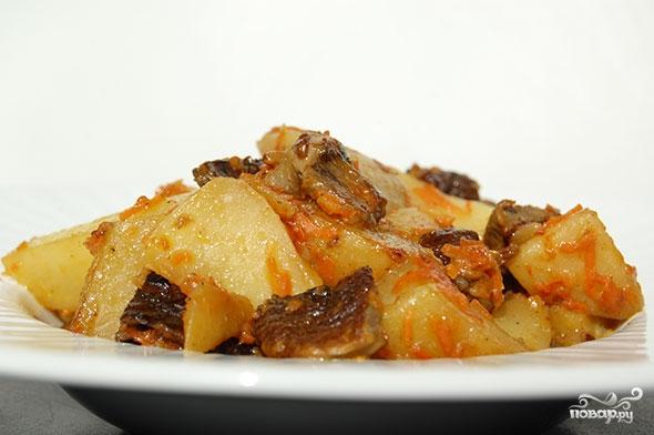 Картошка с сушеными грибами