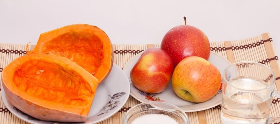 Рецепт Запеченная тыква с яблоками