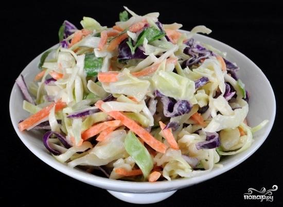 Рецепт Капустный салат со сметаной
