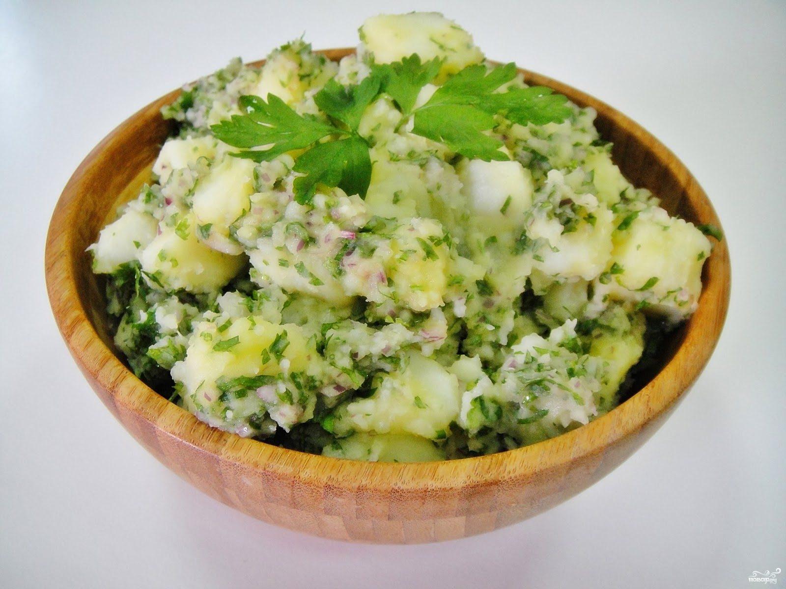 картофельный салат рецепт с солеными огурцами луком