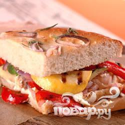 Рецепт Калифорнийский гриль сэндвич Veggie