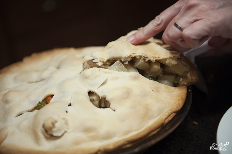Закрытый пирог с курицей - фото шаг 11