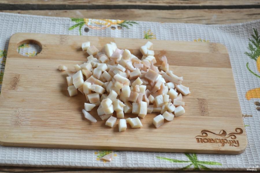 Салат с кальмарами и креветками - фото шаг 3