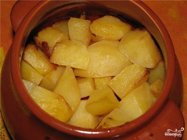 Рецепт Картофель запеченный в горшочке