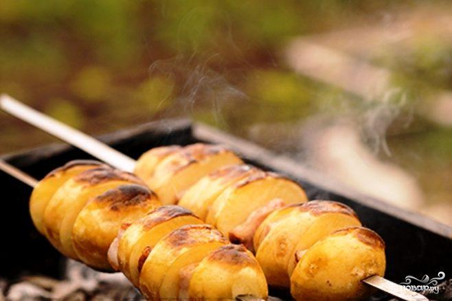 Копченая картошка
