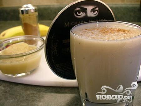 Витаминный напиток с яблоком и корицей