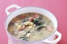 Суп с колбасой и капустой