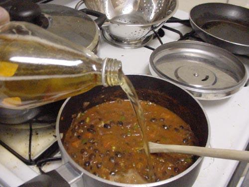 Вегетарианская черная фасоль Чили - фото шаг 7