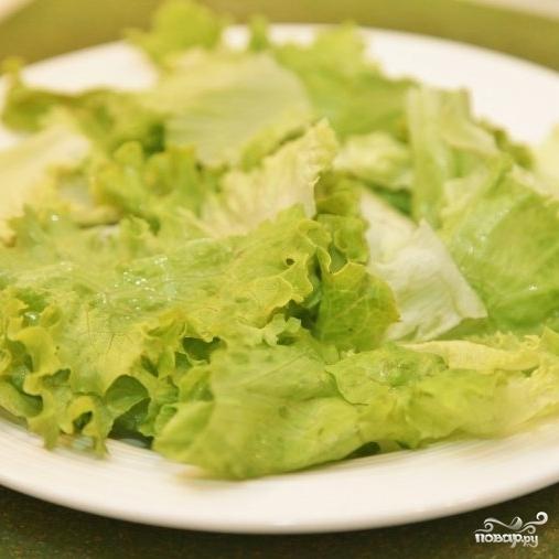 Зеленый салат с форелью - фото шаг 6