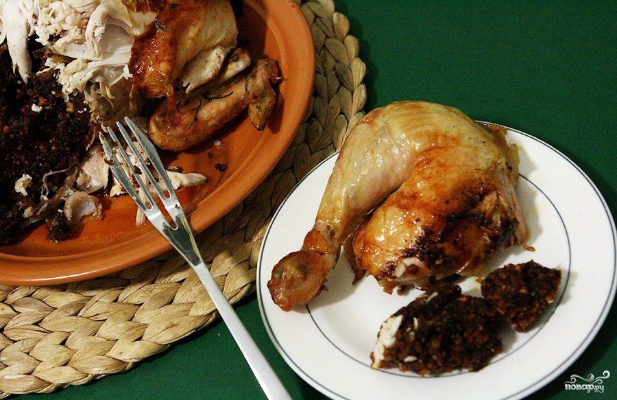 Новогодний цыпленок с финиками