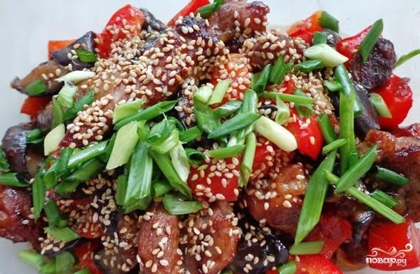 Мясо по китайский с овощами рецепт