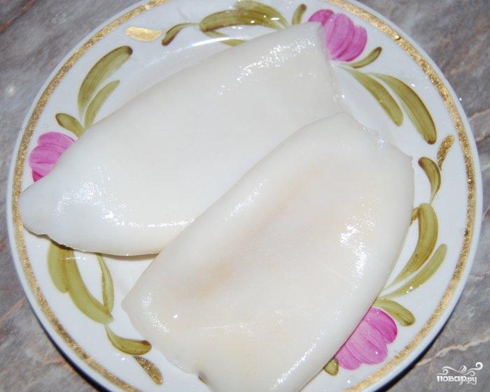 Рецепт Кальмары, тушеные с луком и морковью