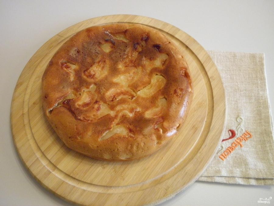 яблочный пирог с медом в мультиварке рецепт-хв6