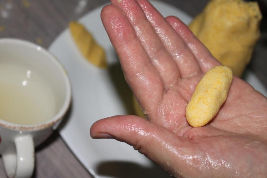 Галушки из кукурузной муки - фото шаг 4