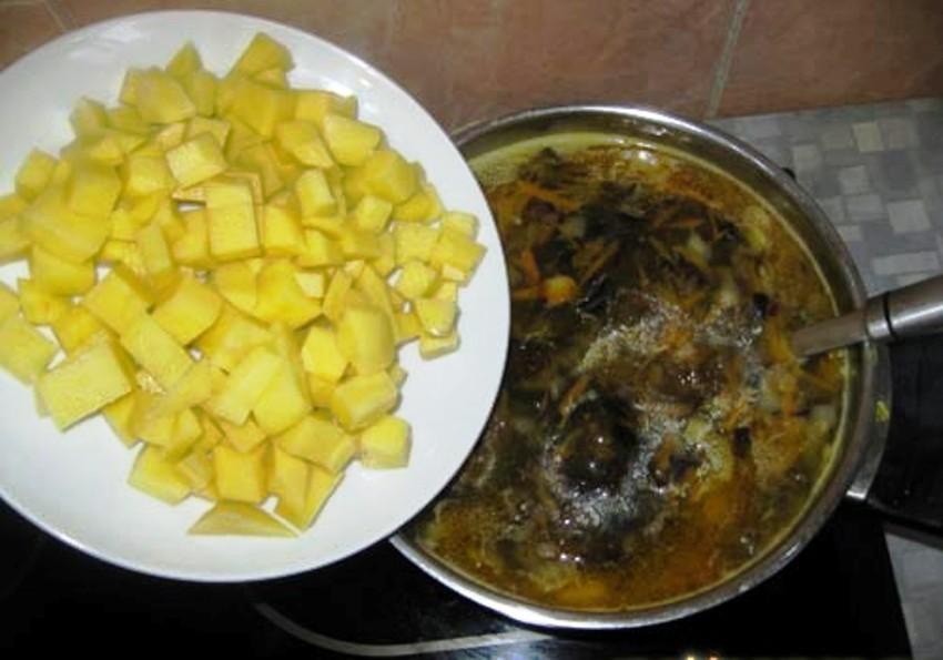 Суп из свежих опят - фото шаг 4