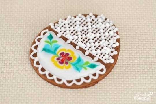 Пасхальные печенья с глазурью - фото шаг 7