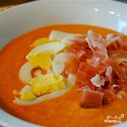 Испанский холодный суп Сальморехо - фото шаг 13