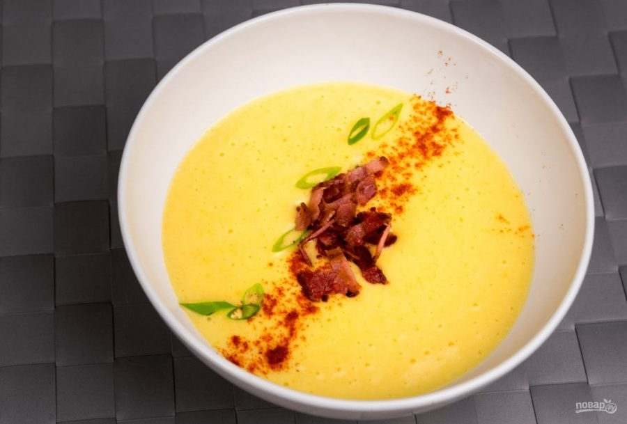 самый простой рецепт сырный суп с