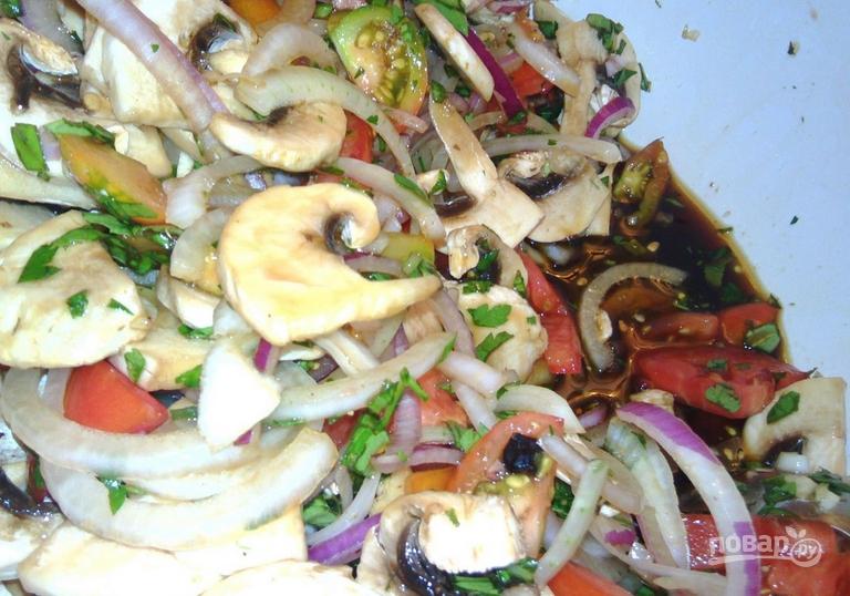 Салат с барбарисом - фото шаг 8