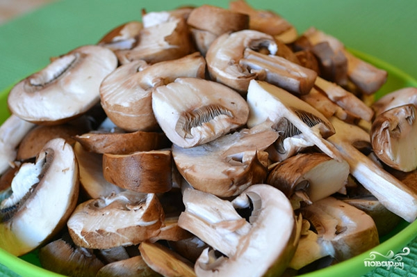 Брокколи с грибами в мультиварке - фото шаг 2