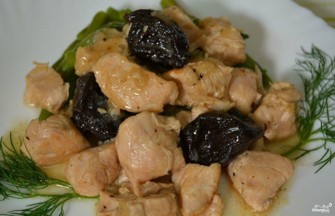 рецепт мясо с черносливом в сметане в