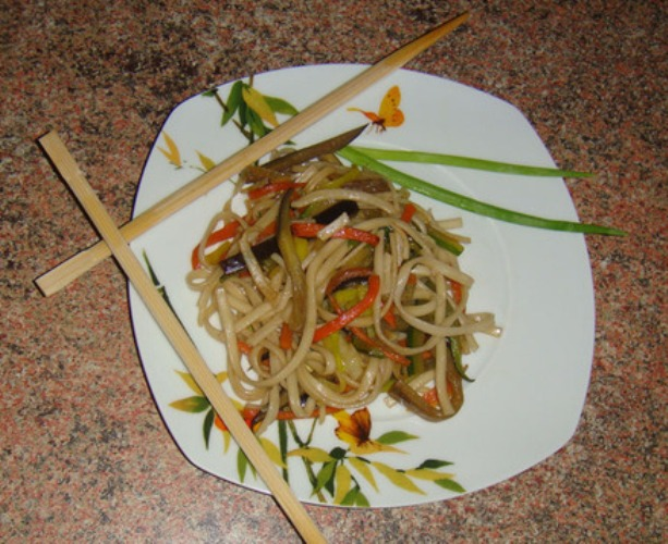 Курица с овощами по-японски - фото шаг 6