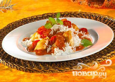 "Рецепт Курица ""Том Кэт"" с рисом и томатами"