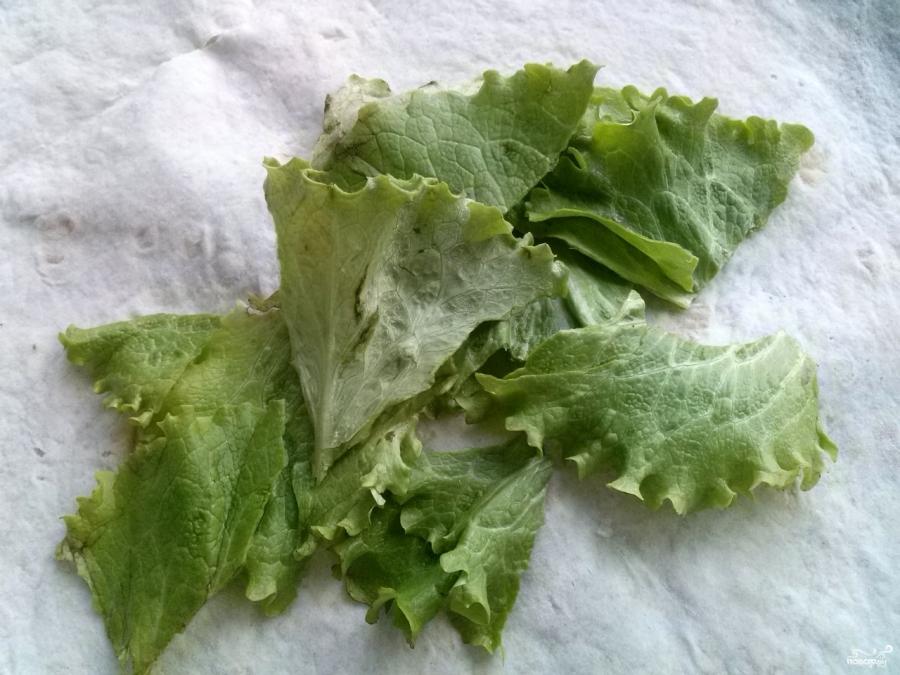 Салат в лаваше с курицей - фото шаг 3