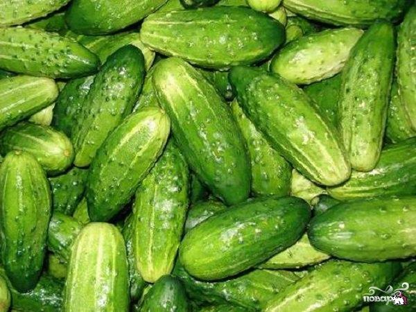 Рецепт Консервированные огурцы с горчицей