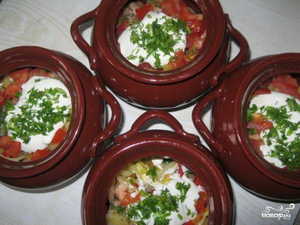рецепт овощного рагу с мясом в горшочке