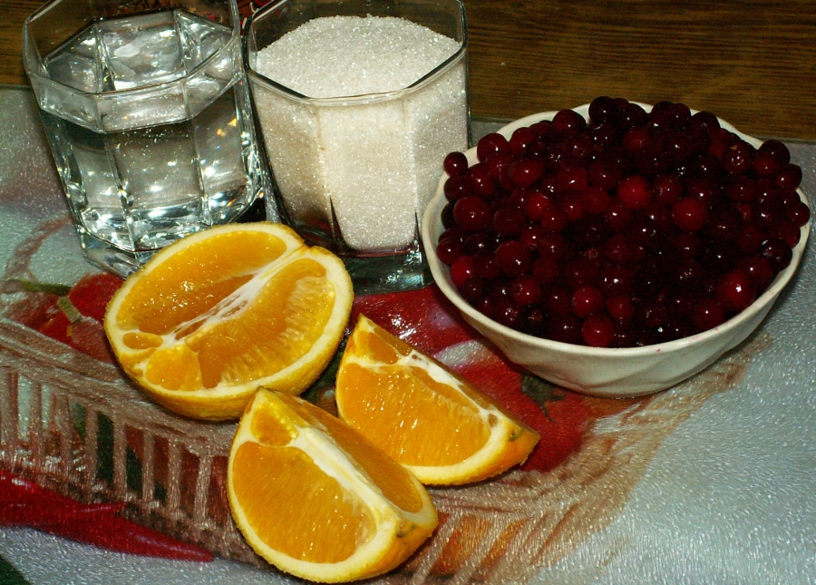 Рецепт Клюквенный соус с апельсинами