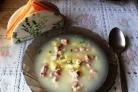 Суп со свининой и сыром
