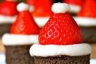 Новогодние пирожные Шапка Деда Мороза