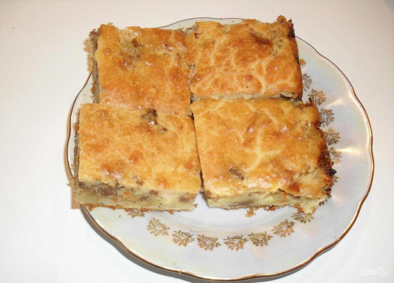 Пирог с капустой и мясом рецепт с фото пошагово в духовке