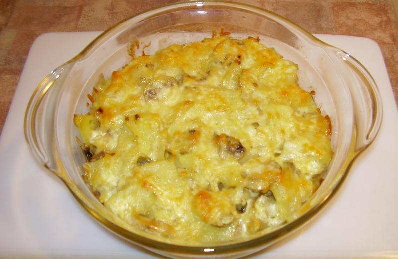 Запеченная картошка с грибами - фото шаг 7