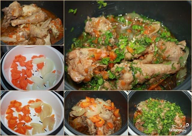 куриные ножки в мультиварке с овощами рецепты с фото