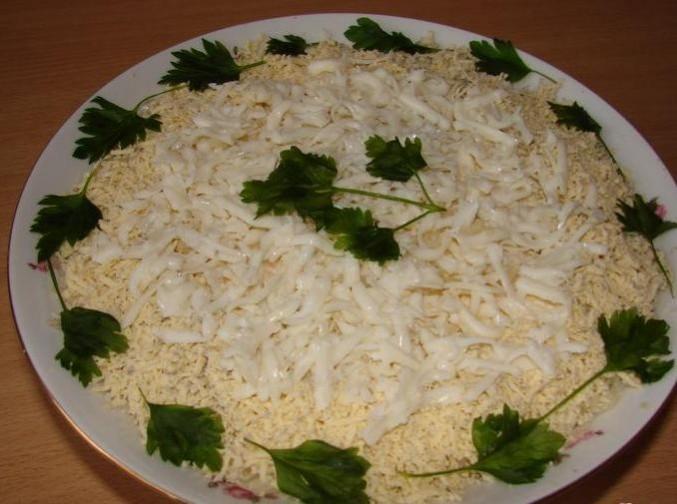 белый лебедь салат рецепт с фото