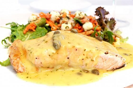 Рыба с устричным соусом