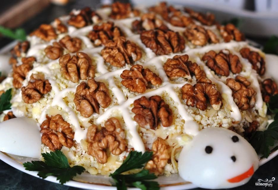 Рецепт салат сыр с майонезом