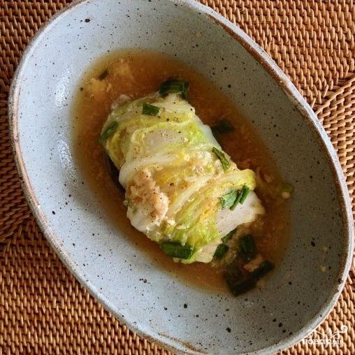 Китайская капуста, фаршированная коричневым рисом - фото шаг 8