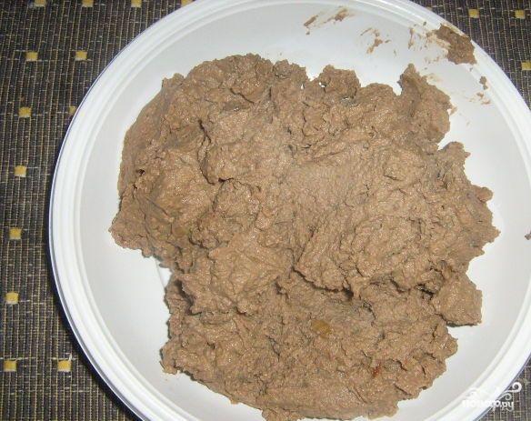 Тарталетки с печеночным паштетом - фото шаг 3