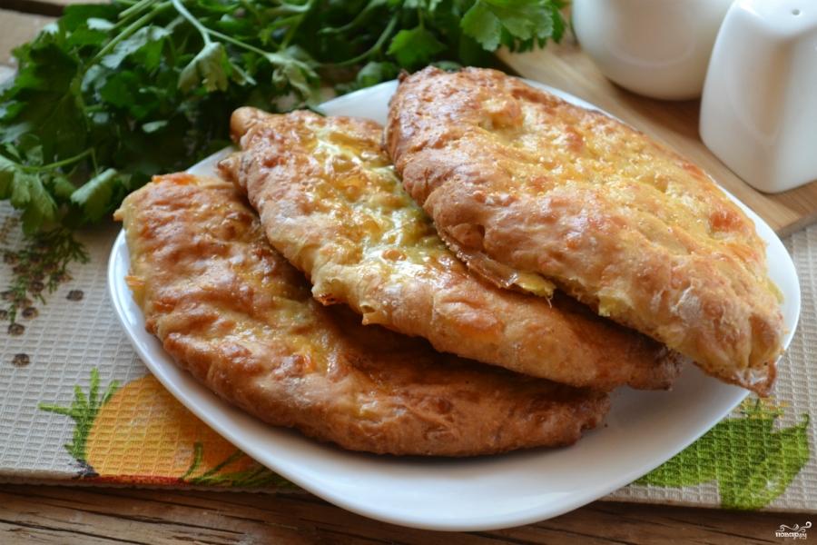 Сырные лепешки на кефире - фото шаг 7