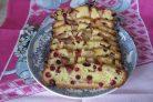 Клюквенный пирог простой